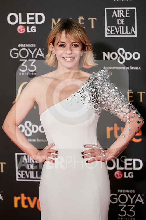 Maria Adanez attends to 33rd Goya Awards at Fibes - Conference and Exhibition  in Seville, Spain. February 02, 2019. (ALTERPHOTOS/A. Perez Meca)