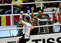CALI – COLOMBIA – 18-02-2017: Kristina Vogel de Alemania, gana medalla de oro en la prueba de Velocidad Damas, en el Velodromo Alcides Nieto Patiño, sede de la III Valida de la Copa Mundo UCI de Pista de Cali 2017. / Kristina Vogel from Alemania, win a gold medal in the Women´s Sprint final Race at the Alcides Nieto Patiño Velodrome, home of the III Valid of the World Cup UCI de Cali Track 2017. Photo: VizzorImage / Luis Ramirez / Staff.