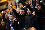 Dundee v St Johnstone…22.09.21  Dens Park.    Premier Sports Cup<br />Saints fans in good voice<br />Picture by Graeme Hart.<br />Copyright Perthshire Picture Agency<br />Tel: 01738 623350  Mobile: 07990 594431