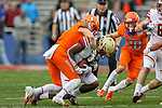 Boston College Eagles wide receiver Kobay White (9) in action during the Servpro First Responder Bowl game between Boise State Broncos and Boston College Eagles at the Cotton Bowl Stadium in Dallas, Texas.