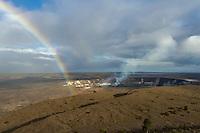 A rainbow at Halema'uma'u Crater, Kilauea Volcano, Hawai'i Volcanoes National Park, Hawai'i Island, June 2015.