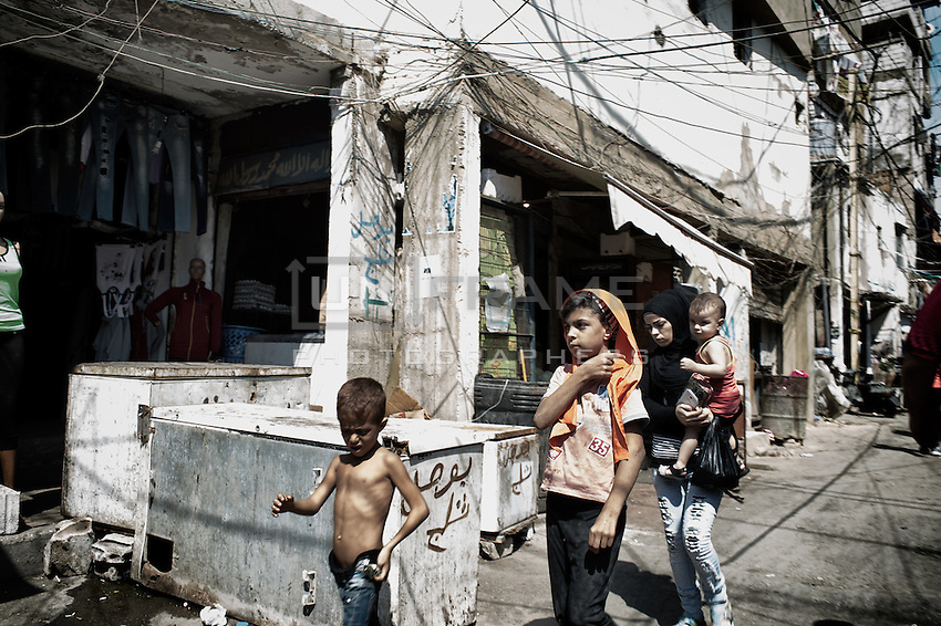Palestinian kids in the Shatila camp. Beirut, Lebanon. August 2015