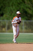 Jamari Baylor during the WWBA World Championship at the Roger Dean Complex on October 20, 2018 in Jupiter, Florida.  Jamari Baylor is a shortstop from Glen Allen, Virginia who attends Benedictine High School.  (Mike Janes/Four Seam Images)