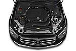 Car Stock 2021 Mercedes Benz E-Class Avantgarde 4 Door Sedan Engine  high angle detail view