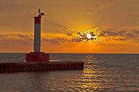Sunrise and Sunset Stock Images