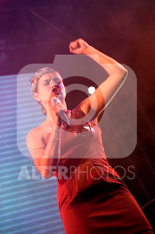 Singer Selena. Gay pride demonstration 2012, equal marriage and equality without cuts