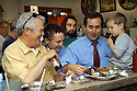 J.J. Morrison, Parker Morrison, Kent Morrison, and Emmet Morrison eat oysters at the counter at Uglesich's in New Orleans, Wednesday, April, 13, 2005..(Cheryl Gerber Photo)Louisiana Seafood..