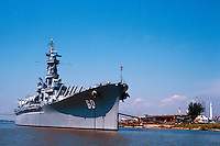 USS Alabama battleship, now a museum docked in Mobile, Alabama. Mobile Alabama United States.