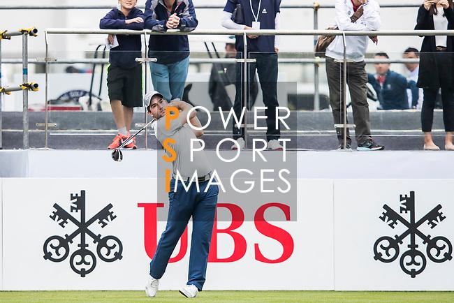 Bradley Neil of Scotland tees off during the day three of UBS Hong Kong Open 2017 at the Hong Kong Golf Club on 25 November 2017, in Hong Kong, Hong Kong. Photo by Yu Chun Christopher Wong / Power Sport Images