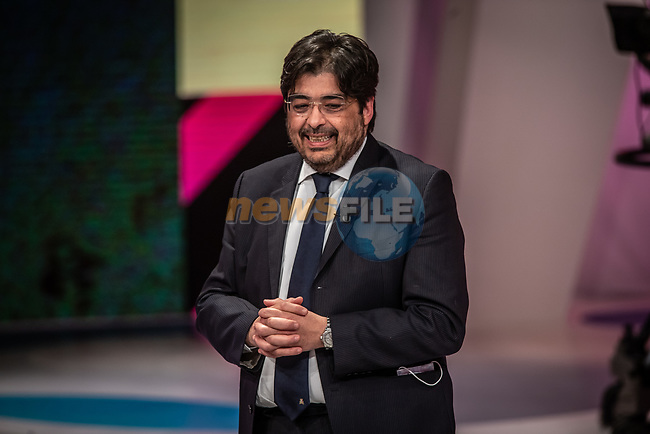 Auro Bulbarelli, Rai Sport, at the presentation of the 2021 Giro d'Italia Route in the Rai Studios in Corso Sempione, Milan, Italy. 23rd February 2021.  <br /> Picture: LaPresse/Claudio Furlan | Cyclefile<br /> <br /> All photos usage must carry mandatory copyright credit (© Cyclefile | LaPresse/Claudio Furlan)