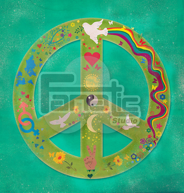 Illustrative image of peace symbol