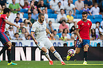 Karim Benzema of Real Madrid in action during the La Liga match between Real Madrid and Osasuna at the Santiago Bernabeu Stadium on 10 September 2016 in Madrid, Spain. Photo by Diego Gonzalez Souto / Power Sport Images