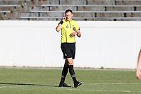 RICHMOND, VA - SEPTEMBER 30: Referee Matt Franz waits to start the game between North Carolina FC and New York Red Bulls II at City Stadium on September 30, 2020 in Richmond, Virginia.
