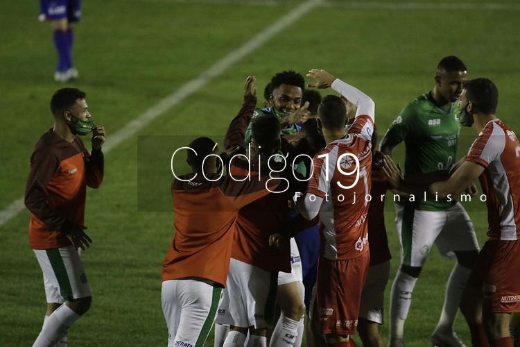 Campinas (SP), 18/08/2020 - Guarani - Parana - Bruno Savio comemora gol do Guarani. Partida entre Guarani e Parana pelo Campeonato Brasileiro 2020 da serie B, nesta terca-feira (18), no Estadio Brinco de Ouro, em Campinas (SP). (Foto: Denny Cesare/Codigo 19/Codigo 19)