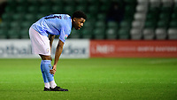 Manchester City U21's Keyendrah Simmonds<br /> <br /> Photographer Chris Vaughan/CameraSport<br /> <br /> EFL Papa John's Trophy - Northern Section - Group E - Lincoln City v Manchester City U21 - Tuesday 17th November 2020 - LNER Stadium - Lincoln<br />  <br /> World Copyright © 2020 CameraSport. All rights reserved. 43 Linden Ave. Countesthorpe. Leicester. England. LE8 5PG - Tel: +44 (0) 116 277 4147 - admin@camerasport.com - www.camerasport.com