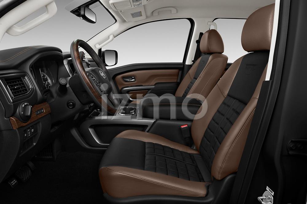 Front seat view of 2018 Nissan Titan Platinum-Reserve-Crew 4 Door Pickup Front Seat  car photos