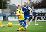 Montrose v St Johnstone….16.07.19      Links Park     Betfred Cup       <br />Sean Dillon's tackle on Kyle McClean is deemed a dive by referee Barry Cook<br />Picture by Graeme Hart. <br />Copyright Perthshire Picture Agency<br />Tel: 01738 623350  Mobile: 07990 594431