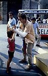 "BERNARDO BERTOLUCCI <br /> SUL SET DEL FILM ""LA LUNA"" ROMA 1979"