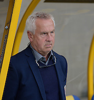 20150523 - SINT-TRUIDEN ,  BELGIUM : Norwegian Head Coach Even Pellerud pictured during the friendly soccer game between the Belgian Red Flames and Norway, a preparation game for Norway for the Women's 2015 World Cup, Saturday 23 May 2015 at Staaien in Sint-Truiden , Belgium. PHOTO DAVID CATRY
