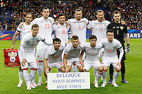 Formazione RUSSIA <br /> France vs Russia - Friendly game - 03/29/2016<br /> <br /> en haut de gauche a droite : Roman Shirokov / Artem Dzyuba / Yuri Zhirkov / Alexey Berezutskiy / Vasiliy Berezutskiy / Igor Akinfeev <br /> <br /> en bas de gauche a droite : Alexander Kokorin / Alan Dzagoev / Oleg Shatov / Oleg Kuzmin / Alexander Golovin <br /> Foto Insidefoto