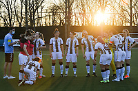 team Charleroi pictured before a female soccer game between Sporting Charleroi and Oud Heverlee Leuven on the 17 th matchday of the 2020 - 2021 season of Belgian Scooore Womens Super League , tuesday 30 th of March 2021  in Marcinelle , Belgium . PHOTO SPORTPIX.BE | SPP | STIJN AUDOOREN