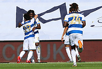 third goal scored for Queens Park Rangers by Eberechi Eze of Queens Park Rangers as he celebrates with Ilias Chair of Queens Park Rangers  during Queens Park Rangers vs Millwall, Sky Bet EFL Championship Football at Loftus Road Stadium on 18th July 2020