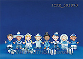 Isabella, CHRISTMAS CHILDREN, naive, paintings, children, blue fond(ITKE501870,#XK#) Weihnachten, Navidad, illustrations, pinturas