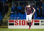 St Johnstone v Hearts…23.12.17…  McDiarmid Park…  SPFL<br />Jamie Walker trudges off a full time<br />Picture by Graeme Hart. <br />Copyright Perthshire Picture Agency<br />Tel: 01738 623350  Mobile: 07990 594431