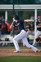 Carson Kasl (59), from Lincoln, Nebraska, while playing for the Padres during the Baseball Factory Pirate City Christmas Camp & Tournament on December 28, 2017 at Pirate City in Bradenton, Florida.  (Mike Janes/Four Seam Images)