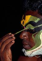 Kathakali-Tanz (In der Maske), Jayanthan,  Sohn von Indira (König des Himmels), Cochin (Kerala), Indien