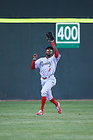 Reading Fightin Phils center fielder Roman Quinn (4) during a game against the Portland Sea Dogs on May 31, 2016 at Hadlock Field in Portland, Maine.  Reading defeated Portland 6-4.  (Mike Janes/Four Seam Images)