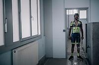 Kenny Dehaes (BEL/WB Aqua Protect-Veranclassic) post-race in the famous Roubaix showers<br /> <br /> 116th Paris-Roubaix (1.UWT)<br /> 1 Day Race. Compiègne - Roubaix (257km)