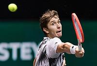 Rotterdam, The Netherlands, 2 march  2021, ABNAMRO World Tennis Tournament, Ahoy, First round match: Egor Gerasimov (BLR).<br /> Photo: www.tennisimages.com/henkkoster