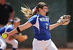 Basic Wolves' Shelby Basso pitches against the Douglas Tigers during the NIAA 4A softball tournament, in Reno, Nev., on Thursday, May 17, 2018. Douglas won 8-5. Cathleen Allison/Las Vegas Review-Journal