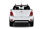 Straight rear view of a 2018 Chevrolet Trax LT 5 Door SUV stock images