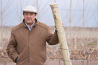 Julio Viola, president and owner in the vineyard Bodega Del Fin Del Mundo - The End of the World - Neuquen, Patagonia, Argentina, South America