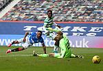 02.05.2021 Rangers v Celtic: Jermain Defoe scores goal no 4 past Celtic keeper Scott Bain