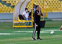 CARTAGENA - COLOMBIA, 01-02-2021: Real Cartagena and Barranquilla F. C., durante partido de la fecha 3 por el Torneo BetPlay DIMAYOR 2021 en el estadio Jaime Moron de la ciudad de Cartagena. / Real Cartagena v Barranquilla F. C., during a match of the 3rd for the BetPlay DIMAYOR 2021 Tournament at the Jaime Moron stadium in Cartagena city. Photo: VizzorImage. / Javier Garcia / Cont.