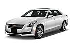 2019 Cadillac CT6 Luxury 4 Door Sedan Angular Front automotive stock photos of front three quarter view