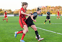 20200304  Parchal , Portugal : Belgian Marie Minnaert (16) pictured in a duel with New Zealand midfielder Ria Percival (2) during the female football game between the national teams of New Zealand , known as the Football Ferns and Belgium called the Red Flames on the first matchday of the Algarve Cup 2020 , a prestigious friendly womensoccer tournament in Portugal , on wednesday 4 th March 2020 in Parchal , Portugal . PHOTO SPORTPIX.BE | DAVID CATRY