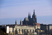 Prague, Czech Republic. Hradcany castle and St Vitus Cathedral.