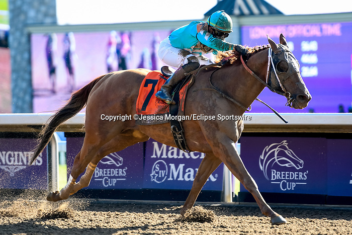 November 7, 2020 : Whitmore, ridden by Irad Ortiz, Jr., wins the Sprint on Breeders' Cup Championship Saturday at Keeneland Race Course in Lexington, Kentucky on November 7, 2020. Jessica Morgan/Breeders' Cup/Eclipse Sportswire/CSM