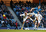 Clint Hill goes close with a header above Andrew Davies