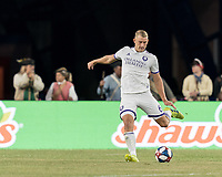 FOXBOROUGH, MA - JULY 28: Robin Jansson #6 passes the ball during a game between Orlando City SC and New England Revolution at Gillette Stadium on July 27, 2019 in Foxborough, Massachusetts.