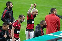 25th August 2021; Arena do Gremio, Porto Alegre, Brazil; Copa Do Brazil, Gremio versus Flamengo; Gabriel Barbosa of Flamengo celebrates scored goal by Rodinei in the 91st minute 3-0