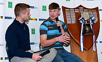 Monday 27th January 2020 | Ulster Schools' Cup Draw<br /> <br /> Ulster Rugby Academy player Conor Rankin speaking at  the draw for the Ulster Schools' Cup Quarter Finals held at Kingspan Stadium, Ravenhill Park, Belfast, Northern Ireland. Fixtures to be played on or before 8 Feb 2020.  Photo credit - John Dickson DICKSONDIGITAL