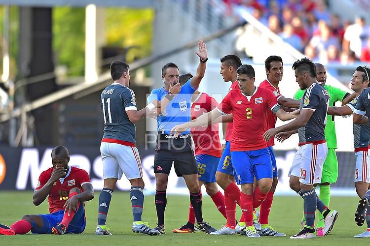 Action photo during the match Costa Rica vs Paraguay, Corresponding Group -A- America Cup Centenary 2016, at Citrus Bowl Stadium<br /> <br /> Foto de accion durante el partido Estados Unidos vs Colombia, Correspondiante al Grupo -A-  de la Copa America Centenario USA 2016 en el Estadio Citrus Bowl, en la foto: Arbitro Patricio Loustau<br /> <br /> <br /> <br /> 04/06/2016/MEXSPORT/Isaac Ortiz.