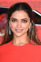 "Deepika Padukone<br /> at the ""xXx: Return of Xander Cage"" premiere at O2 Cineworld, Greenwich , London.<br /> <br /> <br /> ©Ash Knotek  D3216  10/01/2017"