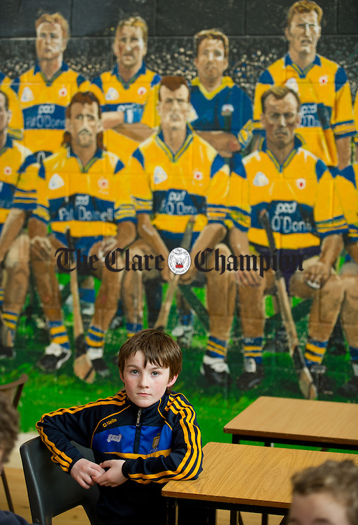 Ronan O Connell of Ennis looks on at the Community Games Draughts county finals in Tulla. Photograph by John Kelly.