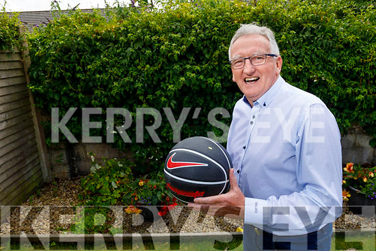 Basketball legend Jimmy Diggins at home on Sunday.